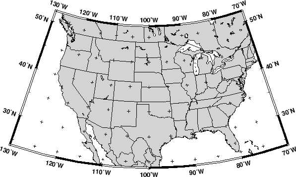 Lambert Conic Conformal Projection Jl JL - Us map eps